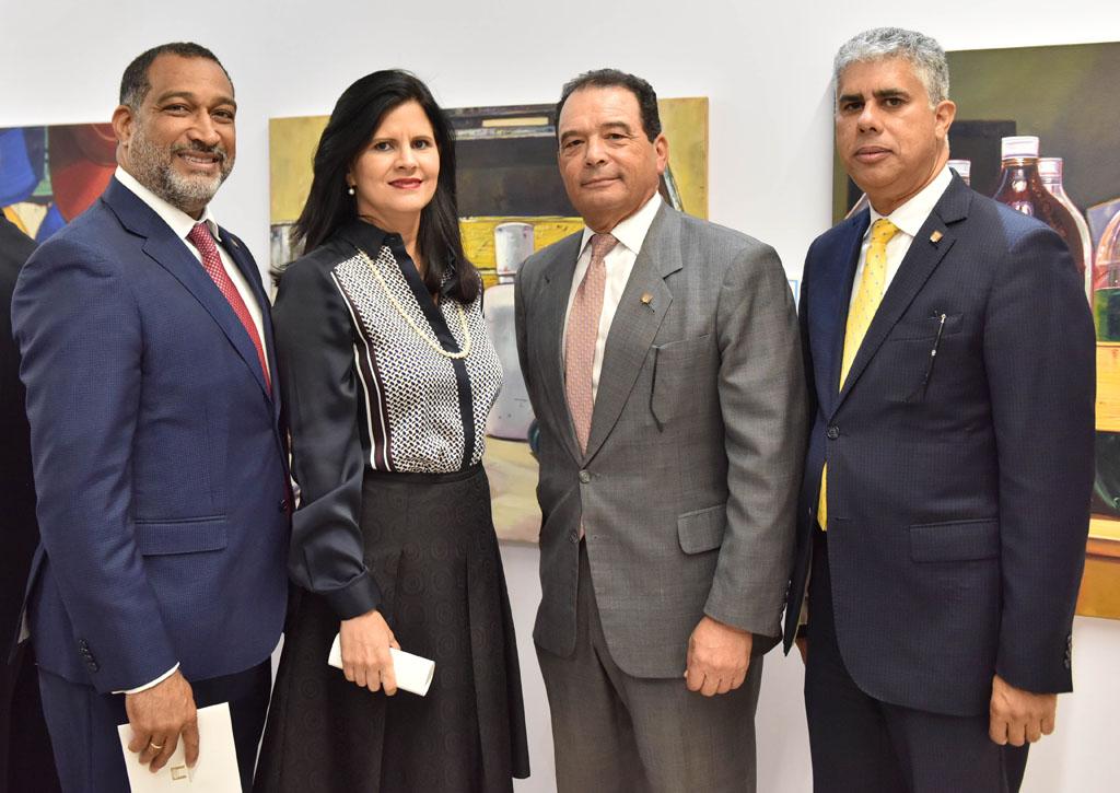 Frank Montaño, Carolina Ramos, Roberto Pelliccione y José Manuel Taveras Lay