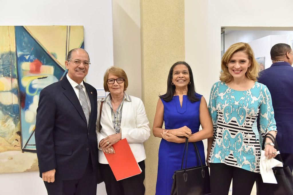 José Alcántara Almánzar, Marianne de Tolentino, Fidelina Acosta y Mónica Gutiérrez Fiallo